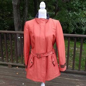 Sam Edelman Rust Orange Belted Size L Jacket